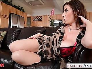 Sexy mom Sara Jay gets fucked and facialized
