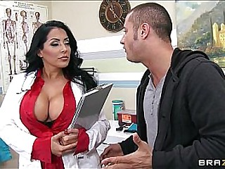 HOT & horny doctor takes a work break to ride her hung patient