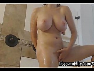 Super Hot Girl Takes Shower