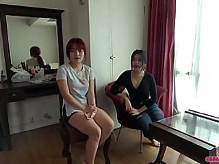 2 hot Thai babes service lucky Japanese guy